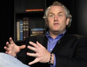 Conservative activist Andrew Breitbart speaks during an interview at the Associated Press in New York, Tuesday, June 7, 2011.