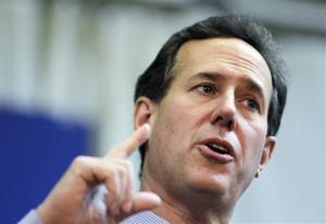 Republican presidential candidate, former Pennsylvania Sen. Rick Santorum speaks at the American Legion, Monday, March 5, 2012, in Westerville, Ohio.