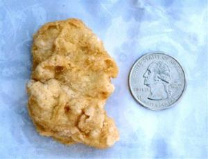 A McDonald's Chicken McNugget found by Rebekah Speight of Dakota City.