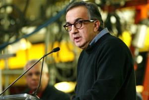 Chrysler CEO Sergio Marchionne speaks during a news conference at the Chrysler Toledo Assembly complex.