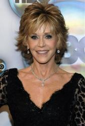 Jane Fonda arrives at the 2012 HBO Golden Globe After Party at the Beverly Hilton in Los Angeles. on Sunday, Jan. 15, 2012.
