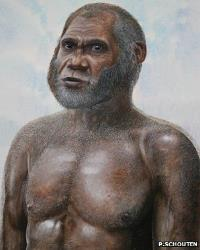 An artist's impression of how the Red Deer Cave People may have looked.