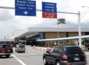 In this 2007 file photo, vehicles enter the Little Rock National Airport in Little Rock, Ark.