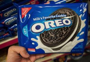 A March 7, 2012 photo shows a package of Oreo cookies in Washington, DC.