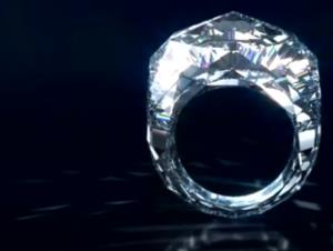 A screen grab from an ad for the ring.