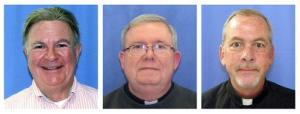 Mug shots are seen for, from left, Edward V. Avery, Monsignor William Lynn, and the Rev. James J. Brennan.