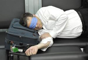 You won't have to do this anymore if you're in airport with Minute Suites beds.