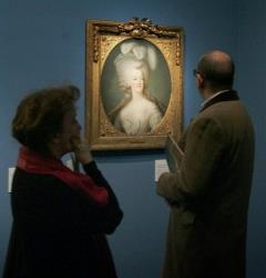 File photo: A portrait of Marie-Antoinette at the Marie Antoinette exhibition at the Grand Palais in Paris.