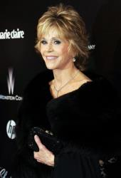 Jane Fonda arrives at the Weinstein Company 2012 Golden Globe party at the Beverly Hilton in Los Angeles, Jan.15, 2012.
