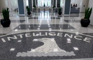 The Central Intelligence Agency logo is displayed in the lobby of CIA Headquarters in Langley, Virginia, on August 14, 2008. AFP PHOTO/SAUL LOEB