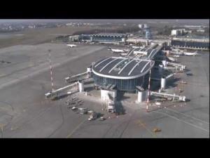 Henri Coanda International Airport outside Bucharest.