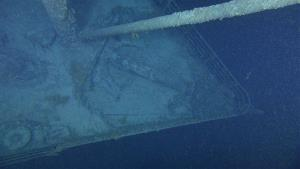 In this Aug. 28, 2010 image released by Premier Exhibitions, Inc.-Woods Hole Oceanographic Institution, the Titanic bow is shown.