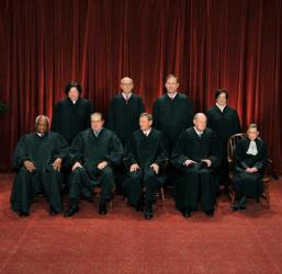 The justices of the US Supreme Court in 2010.