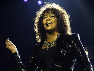 In this April 25, 2010 file photo, singer Whitney Houston performs at the o2 in London as part of her European tour.
