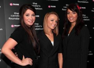 Bristol Palin, Maci Bookout, and Farrah Abraham attend' The Harsh Truth: Teen Moms Tell All' Town Hall Meeting on May 5, 2010 in New York City.