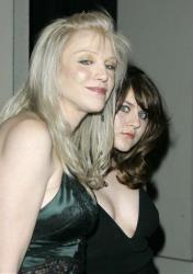 Courtney Love and her daughter, Frances Bean Cobain, arrive at a Versace event in Beverly Hills.