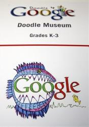 Google Doodles at the Doodle Museum done by school children at Google headquarters in Mountain View, Calif.