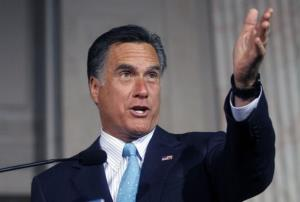 Mitt Romney speaks during the Tri-State Tax Day Tea Summit April 16 in Philadelphia.