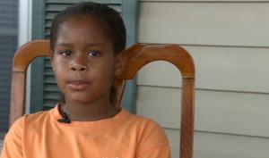A screen grab from WMAZ video of an interview with Salecia Johnson and her parents.