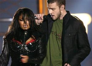 The notorious wardrobe malfunction at the Super Bowl halftime show in 2004.