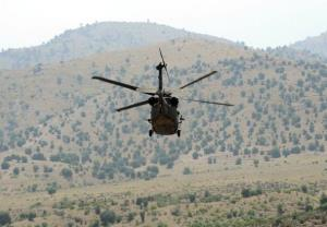 File photo of a US Blackhawk Army helicopter in Afghanistan.