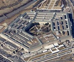 In this Feb. 12, 2009 file photo, the Pentagon is seen from Air Force One.