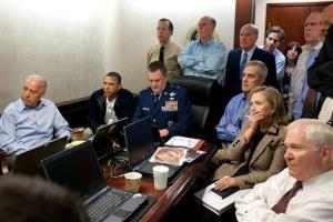 The now-classic White House image of President Obama and others watching the raid that killed Osama bin Laden.