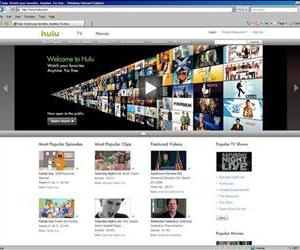 Shown is a screen shot of the Hulu.com Web site.