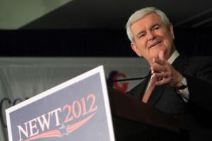 Newt Gingrich speaks at a campaign stop at the University of West Georgia February 28, 2012 in Carrollton, Georgia.