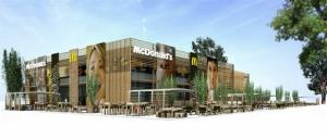 This undated computer generated image taken from McDonald's website shows the exterior of the London 2012 Olympics-McDonald's Central Restaurant in London.  British doctors have slammed the sponsorship of the London Olympics by companies like McDonalds, saying it sends the wrong message amid the country's ballooning obesity crisis. Big Macs, fries...