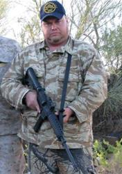 JT Ready led armed patrols in the Arizona desert with the US Border Group.