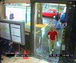 This CCTV image issued by the London Metropolitan Police shows Gareth Williams at Holland Park Tube station in London on Aug. 14, 2010.
