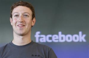 This  2011 file photo shows Facebook CEO Mark Zuckerberg during a meeting in San Francisco.