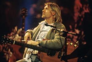 Kurt Cobain of Nirvana during the taping of MTV Unplugged at Sony Studios in New York City in 1993.
