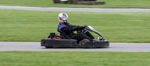 The teen used a go-kart like this one to flee crime scenes, police say.
