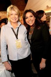 Rachael Ray, right, and Martha Stewart together at the New York Wine and Food Festival's Burger Bash in the Brooklyn borough of New York, Oct. 9, 2009.