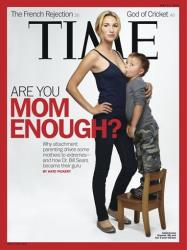 The cover of the May 21, 2012 issue with a photograph of Jamie Lynne Grumet, 26, breastfeeding her 3-year-old son.