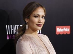 Cast member Jennifer Lopez poses at the Los Angeles premiere of the film What to Expect When You're Expecting, May 14 in Los Angeles.
