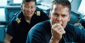In this film publicity image released by Universal Pictures, Tadanobu Asano, left, and Taylor Kitsch are shown in a scene from Battleship.