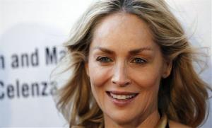 Actress Sharon Stone arrives at A Better LA's In the Art of the City event in Los Angeles, Thursday, May 3, 2012.