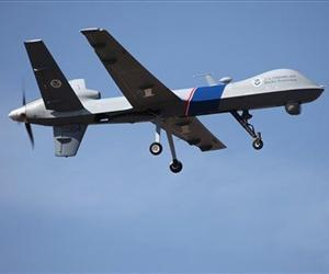 This undated photo shows an unmanned drone used to patrol the US-Canadian border.