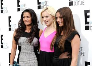 Dina Eastwood, left, Francesca Eastwood, center, and Morgan Eastwood from the Mrs. Eastwood & Company attend an E! Network upfront event at Gotham Hall on Monday, April 30, 2012 in New York.