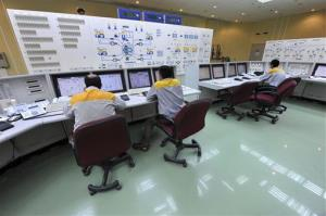 Iranian technicians work at the Bushehr nuclear power plant.