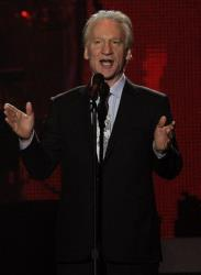 Bill Maher speaks on stage at the MusiCares Person of the Year gala Feb. 11, 2011 in Los Angeles.