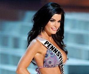In this photo provided by the Miss Universe Organization, Miss Pennsylvania Sheena Monnin competes during the 2012 Miss USA Presentation Show, May 30, 2012 in Las Vegas.