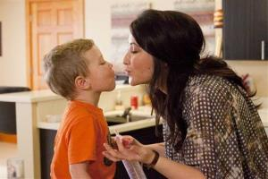 This undated image released by Lifetime shows Bristol Palin and her son Tripp, during the filming of her series, Bristol Palin: Life's A Tripp.