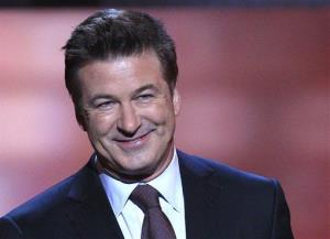In this Feb. 4, 2012 file photo, host Alec Baldwin speaks during the inaugural NFL Honors show in Indianapolis.