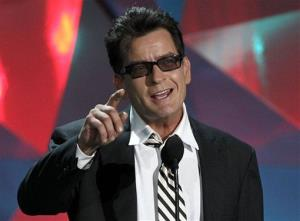 Charlie Sheen is seen onstage at the MTV Movie Awards on Sunday, June 3, 2012 in Los Angeles.