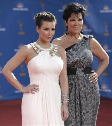Kim Kardashian and her mother Kris Jenner arrive at the 62nd Primetime Emmy Awards Sunday, Aug. 29, 2010, in Los Angeles.