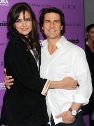 Katie Holmes and Tom Cruise attend the premiere of 'The Romantics' in 2010 in New York.